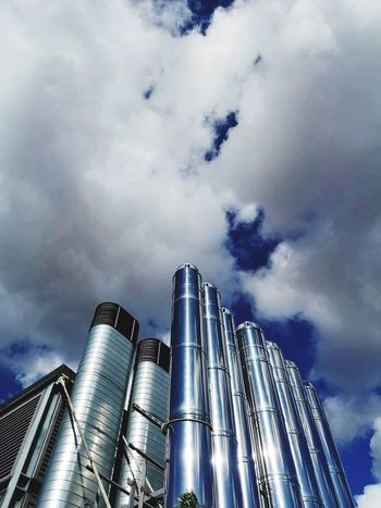 Cloud - Sky Low Angle View Sky Architecture Building Exterior Built Structure Nature No People Building Office Building Exterior Tower
