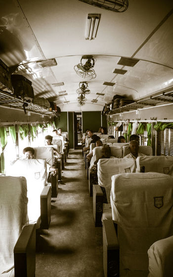 Adult Adults Only Day Green Illuminated Indoors  Journey Large Group Of People Myanmar On The Way To Mandalay People Second Class Sepia Train Travel Travel Destinations Travelling