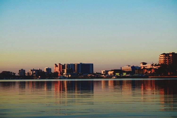 Waterfront Modern Reflection Water Clearwater Clearwater Beach Silhouette Sunrise_sunsets_aroundworld Travel Destinations Morning Sun