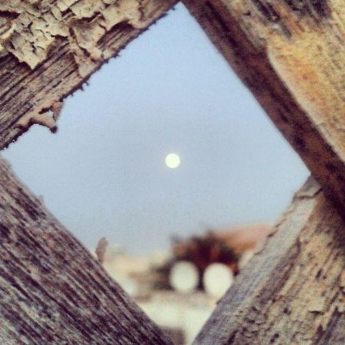 Moon Window Frame Fence wood sky secret wall old vintage nature abudhabi uae