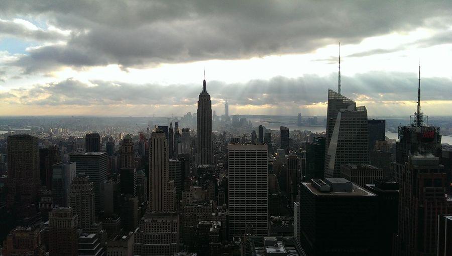 Image of a big city at dawn