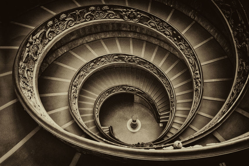 Bramante Staircase( Vatican Staircase in Rome) Black And White Bramante Bramante Staircase Europe Italia Italy Lapa Lapartemiglioredime No People Outdoors Rome Sepia Staircase Vatican Vatican City Vatican Museums Vatican No P Vaticancity Photos Connected By Travel