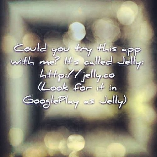 Ask or answer a question and either a friend (in your Facebook or Twitter account)or your friend's friends may have an answer or a question that maybe you or your friend can answer (Ohhh and you can also take a picture and ask a question) ...JustTryJelly