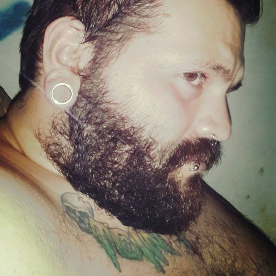 Love you 💑 Love Boyfriend Amarte Plug tattoo beard piercing