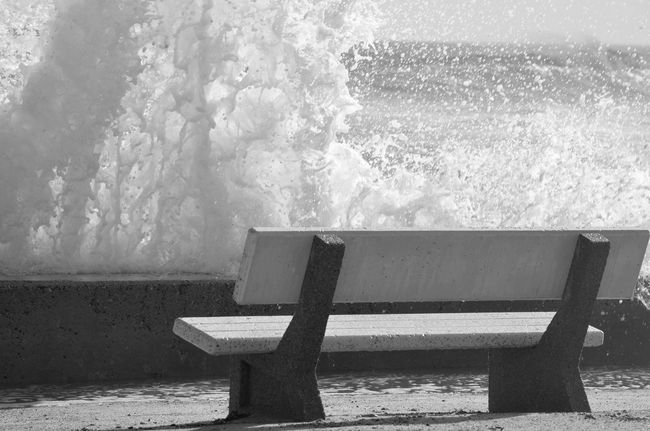 Day Outdoors Water Nature No People Beauty In Nature Wave Sea Storm Rough High Tide Splashing Power In Water Waterfront Ocean Waves Motion