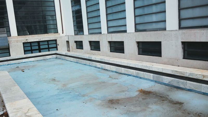 Here Belongs To Me Neutral Blue Empty Places Emptiness Rationalism Rationalist Windows Swimming Pool Loneliness Your Design Story