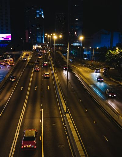 Transportation Road City Architecture Night Car Mode Of Transportation