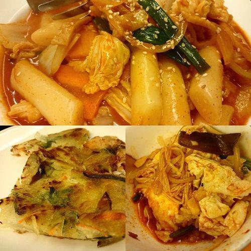 好撐好飽好爽 韓式料理 海鮮煎餅 超好吃 辣炒年糕