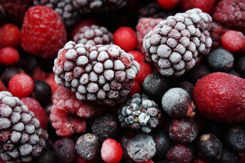 Frozen berries Fruit Blueberry Food And Drink Healthy Eating Red Close-up Ripe Raspberry Food Freshness Healthy Lifestyle Food Stories