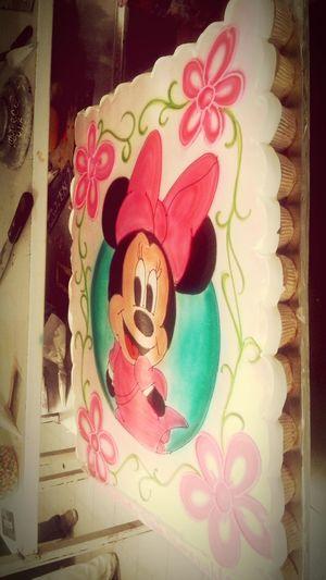 Minnie sobre pastel