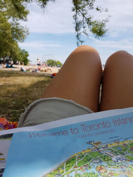 Beach Toronto Islands Toronto Canada Legsselfie Map Focus On Foreground Relaxing Enjoying Life Sunny Day Sand Outdoors Activities Breathing Space
