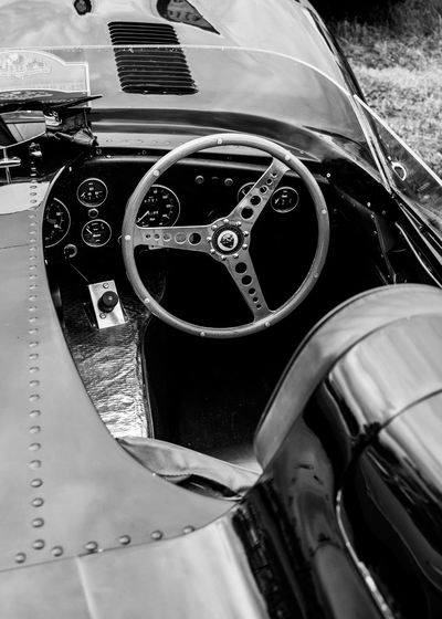 Classic Car JAGUAR Restoration The Week On EyeEm Blackandwhite Close-up Day Gear Land Vehicle Mode Of Transport No People Outdoors Steering Wheel Technology Transportation Vehicle Part