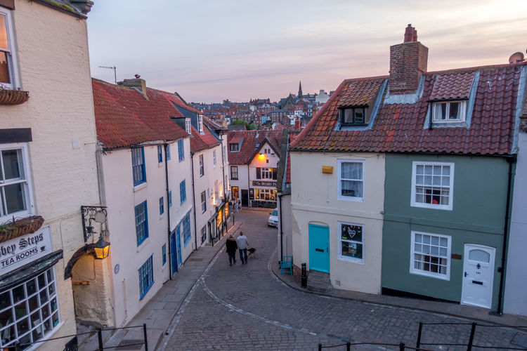 Whitby Whitby North Yorkshire Whitby View Seaside Seaside Town Whitby Streets Yorkshire Town Centre Coastal Town Holiday Destination Tourist Hotspot Shops Street Streets Building Exterior Sky Town Walking Lifestyles Real People Building Built Structure Architecture Cloud - Sky House