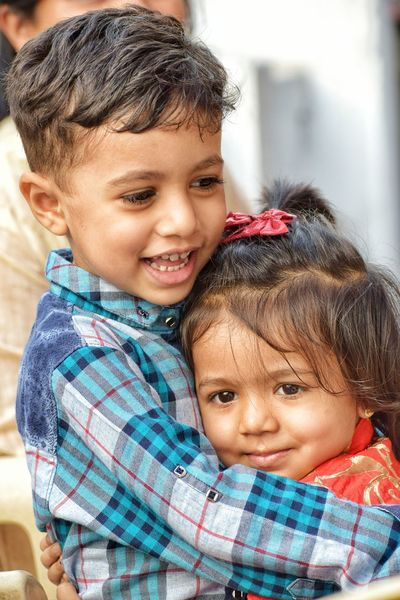 Brother & Sister EyeEm Selects Sibling Love Baby Child Childhood Portrait Smiling Happiness People Cute Looking At Camera Two People Togetherness Real People Close-up Outdoors Boys Lifestyles Human Body Part Day EyeEm Ready   EyeEmNewHere Stories From The City This Is Family