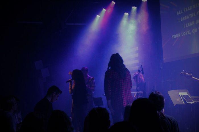 EyeEmNewHere God's Creation Youth Enjoyment Illuminated Indoors  Large Group Of People Music Youth Group