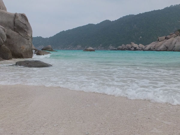 Beach Beauty In Nature Coastline Day Idyllic Mountain Mountain Range Nature Rock Rock - Object Rock Formation Sand Scenics Sea Shore Sky Tranquil Scene Tranquility Water Wave Spotted In Thailand Kohnangyuan