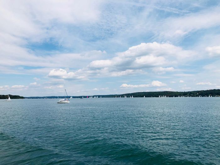 Water Cloud - Sky Sky Sea Scenics - Nature Beauty In Nature Waterfront Sailboat Outdoors No People Nature Day