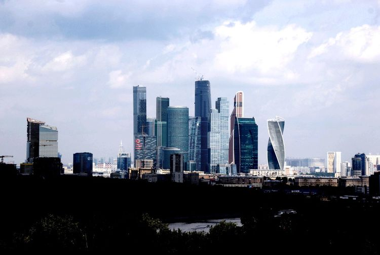 Moscow international business center in city