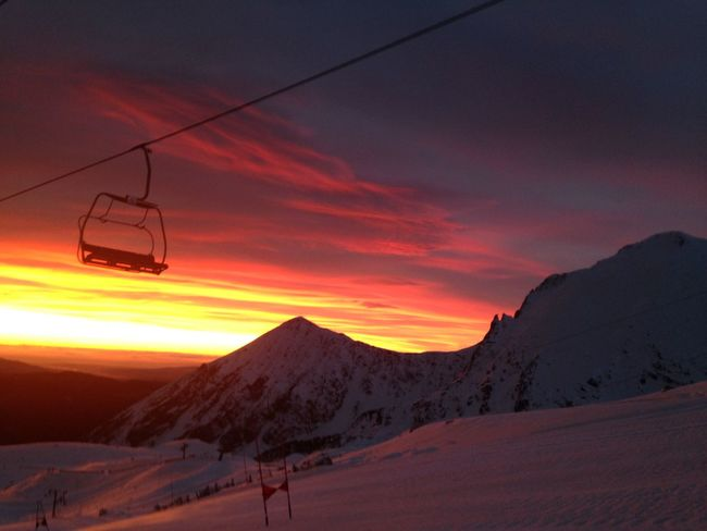 Alpine Skiing Beauty In Nature Cloud - Sky Cold Temperature Gates Landscape Lift Morning Morning Light Mountain Nature No People Outdoors Scenics Skiing Sky Snow Sunrise Training Winter EyeEmNewHere