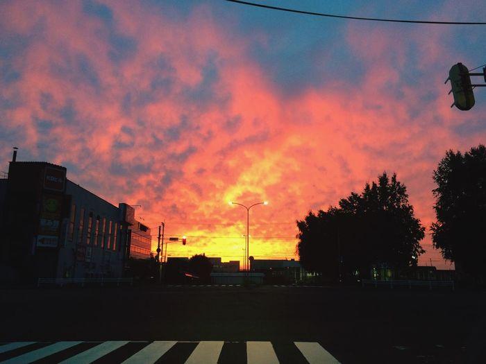 IPhone Dawn 朝焼け 夜明け 北海道