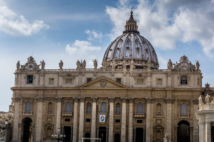 Architecture Blue Building Exterior Built Structure City Cupolone Day Government History Italia Italien Italy No People Outdoors Rom Roma Rome San Pietro Sky Tourism Travel Travel Destinations Vatican Vaticano Vatikan