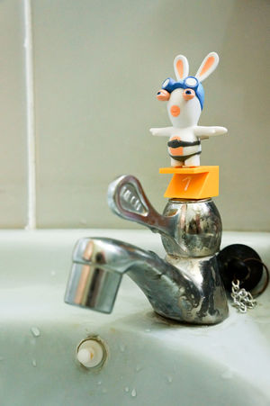 Animal Representation Bootleg Close-up Day Diver Faucet Game Indoors  Raving Rabbids Ravingrabbids Sink Sports Swimmer Toy Toyphotography