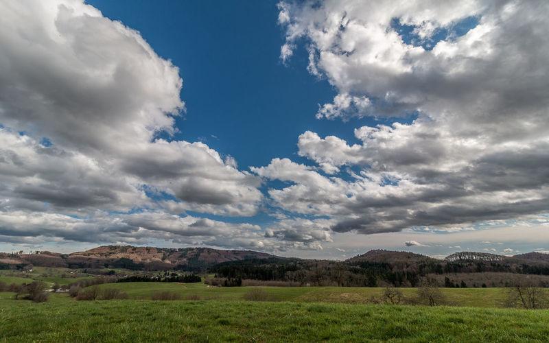 cloudy Black Forest Blue Cloud Cloud - Sky Cloudy Day Field Grass Green Color Idyllic Landscape Mountain Mountain Range Nature Schwarzwald Sky