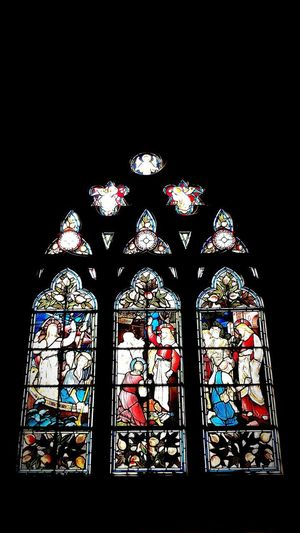 Stained Glass Window Multi Colored Indoors  Arch Place Of Worship Religion Spirituality Low Angle View No People Rose Window History St Martin's Church Place Of Worship Stained Glass
