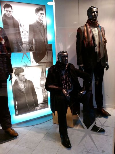 Built Structure Casual Clothing Fashion Fashion Display Front View Full Length Human Representation Lifestyles Male Male Mannequin Male Mannequine Fashion Display. Many Men Retail. Shop Shop Window Shop Window Display. Standing Store. Traditional Clothing Window Young Adult