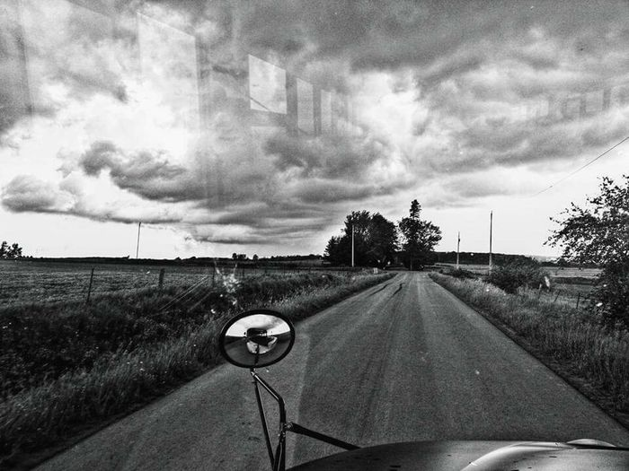 Transportation Road No People Storm Cloud Vehicle Mirror Rainy Season Cloud - Sky Reflection_collection Tornado Warning Lookclosely Road To Nowhere EyeEmNewHere Neighborhood Map