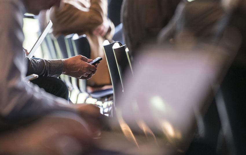 Cell Phone  Communication Connection Event Handy Holding Indoors  Internet Man Holds Mobile Phone Man Writes With Mobile Phon Men Mnn Schreibt Mit Handy Mobile Phone Modern Working Process People Portable Information Device Schreiben Smart Phone Surfen Technology Twittern Während Einer Veranstaltung Wireless Technology Working Writing On The Walls Fresh on Market 2017 Mobile Conversations