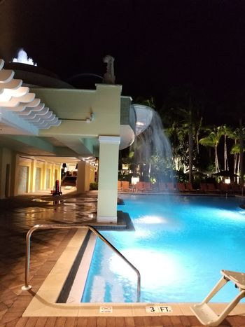 Vacation Day In Autumn. Editorial Only Swimming Pool Water Night Architecture Vacations Luxury No People Outdoors Luxury Hotel Illuminated