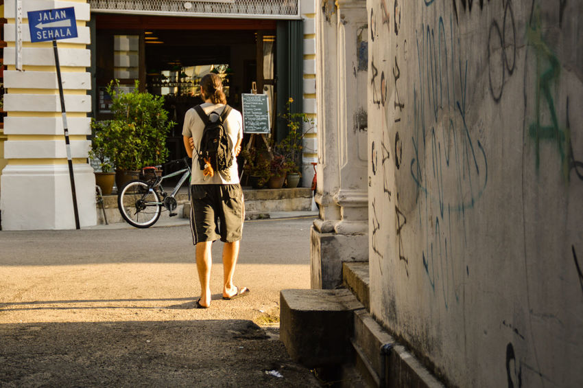 Adult Full Length People Rear View Lifestyles Standing Architecture Streets Of Penang Penang Malaysia Leisure Activity Light And Shadow Alleyway The Week On EyeEm