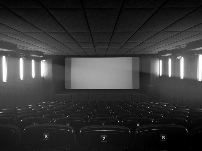 View of empty theater