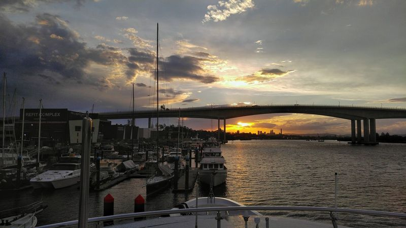 The sun after the storm. Sunset Sky Water Cloud - Sky Bridge - Man Made Structure Beauty In Nature Lgv10photography LGV10 Yachts Work Perfectpersuasion My Year My View