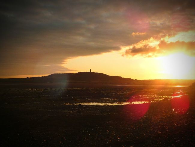 Newtownards Sunset Peace And Quiet Scrabo Tower Beach Landscape