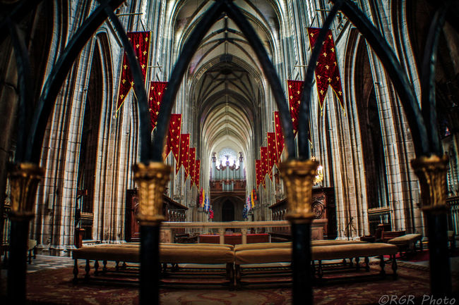 Architecture Architecture Cathedral Check This Out EyeEm Gallery French Gothic Gotico Indoors  Iron Fence Nave No People Pew Place Of Worship Religion Spirituality Travel Resist The Architect - 2017 EyeEm Awards