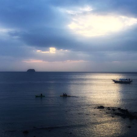 Be filled by wonder, be touched by peace. Sea Nautical Vessel Sky Beauty In Nature Water Tranquility Nature Transportation Scenics Horizon Over Water Mode Of Transport Tranquil Scene Boat Cloud - Sky Outdoors Sunset No People Day Outrigger Mabini Anilao, Batangas Philippines