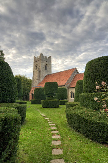 Borley Church in Borley, Sudbury, Suffolk, England. 11th Century Church Essex Ghost Worship Architecture Borley Building Exterior Built Structure Cut Hedge Footpath Green Color Haunting  Hedge Hedge Row Beauty Lawn Plant Prayer Rectory Sudbury Suffolk