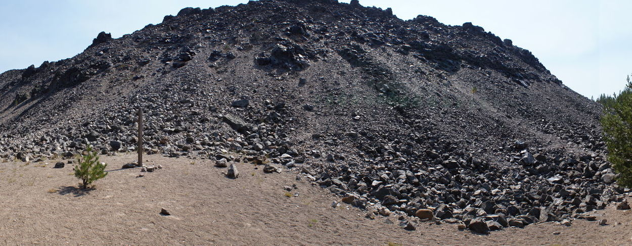 Lava Flow NewberryVolcanicNationalMonument Rock Formation Day Glass Lava Low Angle View Mountain Nature No People Obsidian Obsidian Flow Outdoors Physical Geography Rock - Object Sand Scenics Sky Volcano
