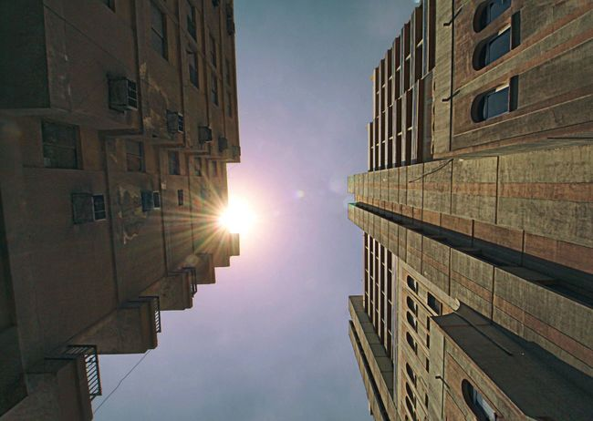 Old buildings Old Buildings Old-fashioned View From Below Apartment Buildings Building Exterior Buildings & Sky Qatar Doha Sun Sunlight