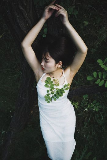 The Week on EyeEm EyeEmNewHere Young Adult Human Body Part Girl Young Women Nature Plant Part People Photography People Of EyeEm High Angle View Girly Pretty Girl Pretty♡ Nature Body Part Beauty In Nature Lifestyles Dress