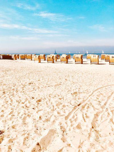 Kiel Kielerförde Ostsee Beach Sand Land Beach Sky Nature Built Structure Architecture Tranquil Scene Water