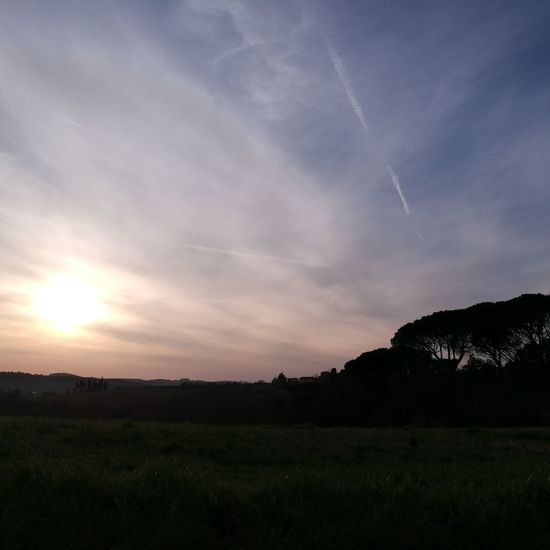 Nofilter Nofilters Tuscany Stepbystep Sunday March Afternoon Sky Sun Enjoying The View Colline Toscana Sunset Landscape Nature Awe Scenics Beauty In Nature No People Tree Outdoors Galaxy Astronomy