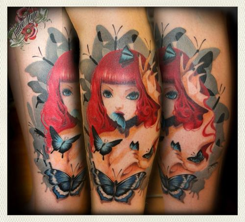 My girl ^_^ Tattoo Beautiful Color Awesome