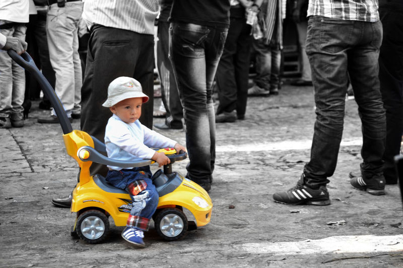 Boy in a car. Baby Baby Girl Baby Playing Blackandwhite Bogotá Boy Carry On Casual Clothing Child Child Playing Childhood Ciclovia  Colombia Composition Gachetá Gachetá Girl Lifestyles Playing Real People Street Showcase March