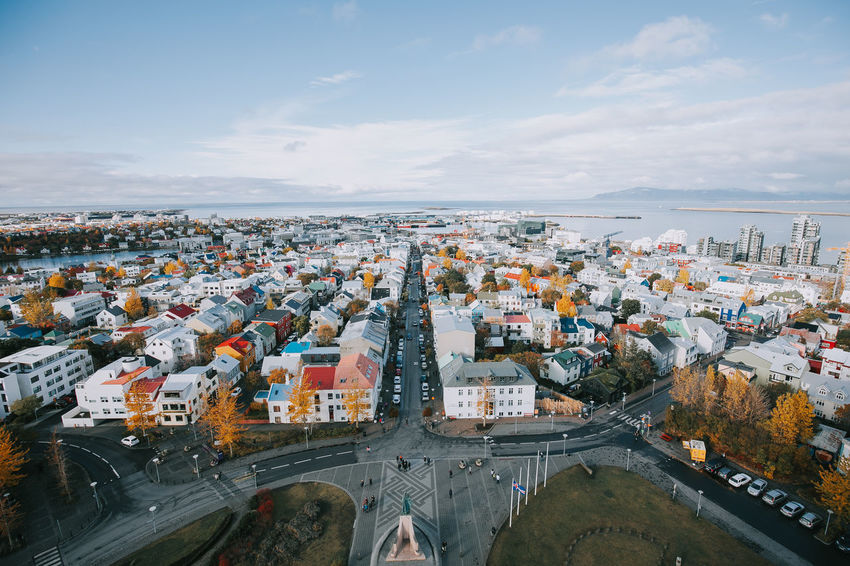 Autumn Iceland Reykjavik Road Sunny Travel Architecture Built Structure Canon City Cityscape Cloud - Sky Colorful Day Destination High Angle View House Nature Outdoors Roadtrip Scenics Sky Tourism Wide Angle