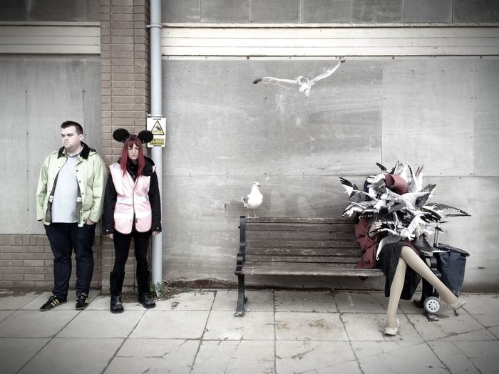 banksy - women attacked by seagulls Dismaland®