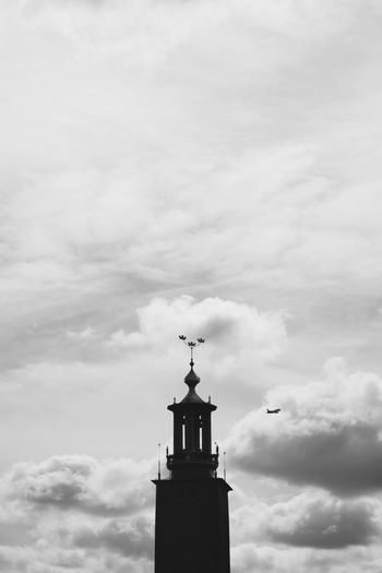 EyeEm Selects Sky Cloud - Sky Built Structure Architecture Building Exterior Low Angle View Building No People Spirituality Tower Silhouette Day Spire  Cross