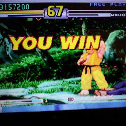 Whupped akuma's ass.. Streetfighter3 Kenmasters Akuma Kickedass likeaboss tag4tags like4likes capcom classic tweegram
